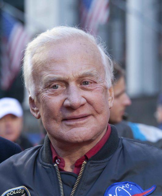 New York, NY - Nov 11:  Astronaut Buzz Aldrin is involved in veteran parade at 5 Ave Manhattan , New York on November 11, 2010